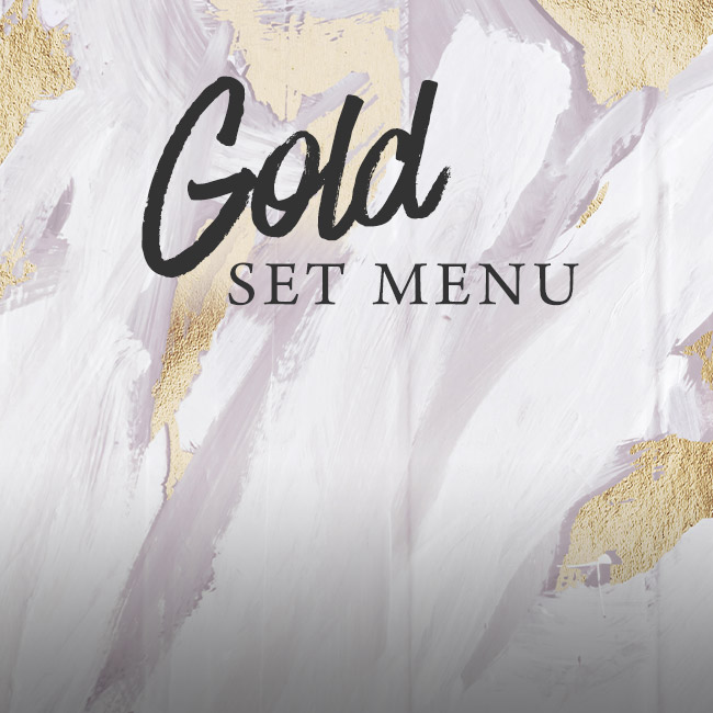 Gold set menu at The White Hart