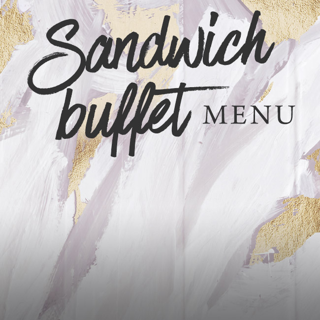 Sandwich buffet menu at The White Hart