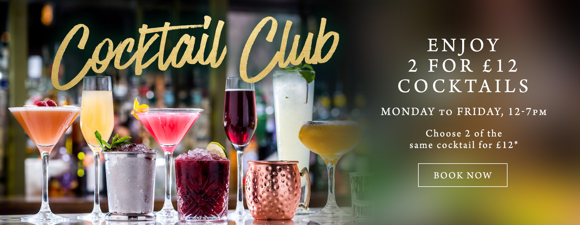 2 for £12 cocktails at The White Hart